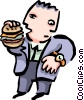business lunch Vector Clipart illustration