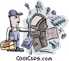 Vector Clipart picture  of a repairing