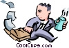 Vector Clipart graphic  of a business/fast paced