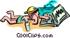 Vector Clip Art image  of a high tech at the beach