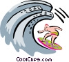 business surfing Vector Clipart illustration