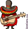 Mexican music Vector Clipart illustration