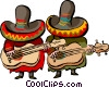 Vector Clip Art graphic  of a Mexican music