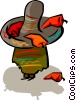 Vector Clip Art graphic  of a Mexican