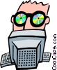 computer geek Vector Clip Art picture
