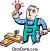 hitting thumb with hammer Vector Clip Art graphic