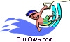 Vector Clipart graphic  of a water skier