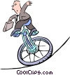 Vector Clip Art image  of a business/balancing act