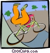bicycle stunts Vector Clip Art graphic