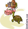 Vector Clipart graphic  of a the tortoise and the