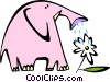 Vector Clip Art image  of a elephant