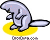 beaver Vector Clipart graphic