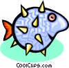 Vector Clipart illustration  of a puff fish