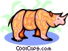 rhinoceros Vector Clip Art graphic