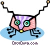Vector Clip Art graphic  of a bug