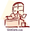Vector Clip Art image  of a office worker
