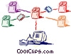 Vector Clipart picture  of a Computer Networking