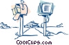 Vector Clipart image  of a electronic mail