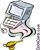 computer technology Vector Clipart picture