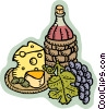 wine and cheese Vector Clipart picture