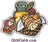 Christmas Foods Vector Clipart picture
