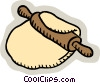 Vector Clip Art graphic  of a rolling dough