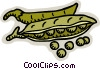 Vector Clipart graphic  of a peas in a pod