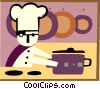 Vector Clipart graphic  of a cooking