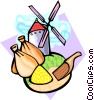 Vector Clip Art graphic  of a international foods