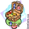 Vector Clipart graphic  of a Picnic foods
