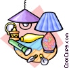 Vector Clipart image  of a things that shed light