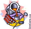 melting pot Vector Clipart picture