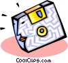 Vector Clipart graphic  of a computer disk