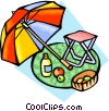 Vector Clipart image  of a Picnic accessories