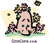 Man enjoying spring weather Vector Clipart illustration