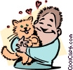 Vector Clip Art graphic  of a pets