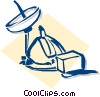 business telecommunications Vector Clip Art image