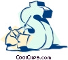 Vector Clip Art graphic  of a business and finance