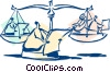 Vector Clipart illustration  of a business/weighing the options