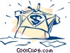 business superman Vector Clipart picture