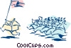 Vector Clip Art picture  of a business/going into battle
