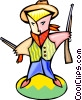 Vector Clip Art image  of a cartoon cowboy