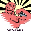 Vector Clip Art image  of a bodybuilding