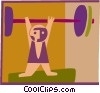 Vector Clipart illustration  of a weight lifter