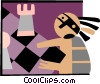 Vector Clipart image  of a chess