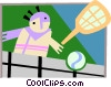 Vector Clipart graphic  of a racket sports