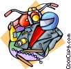 Vector Clip Art graphic  of a motorcycle gear