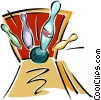 Vector Clip Art graphic  of a bowling
