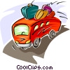 Vector Clipart graphic  of a tour bus