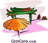 Vector Clipart illustration  of a Japanese shrine